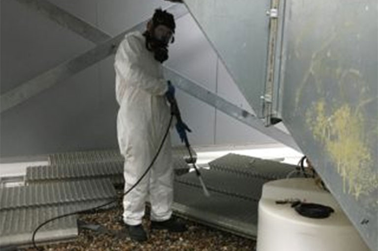 Cleaning And Chlorination Of Cooling Tower