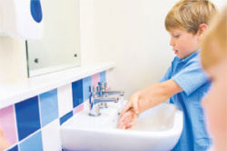 Children Washing Hands At School
