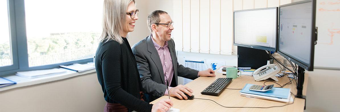 Monitoring Legionella Risk Assessments Resullts On Office Computer