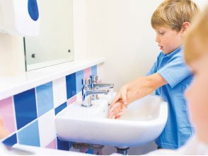 Washing hands in schools